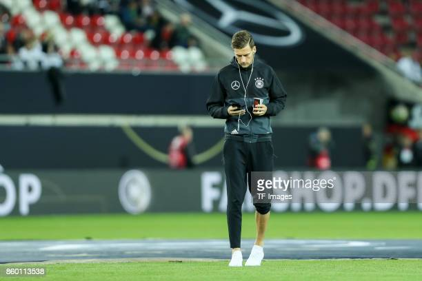 Leon Goretzka of Germany looks on during the FIFA 2018 World Cup Qualifier between Germany and Azerbaijan at FritzWalter Stadium on October 8 2017 in...