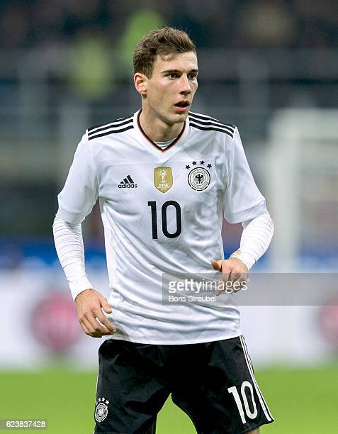 Leon Goretzka of Germany looks on during the International Friendly Match between Italy and Germany at Giuseppe Meazza Stadium on November 15 2016 in...