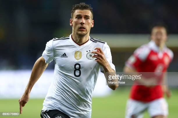 Leon Goretzka of Germany runs after the ball during the international friendly match between Denmark v Germany on June 6 2017 in Brondby Denmark
