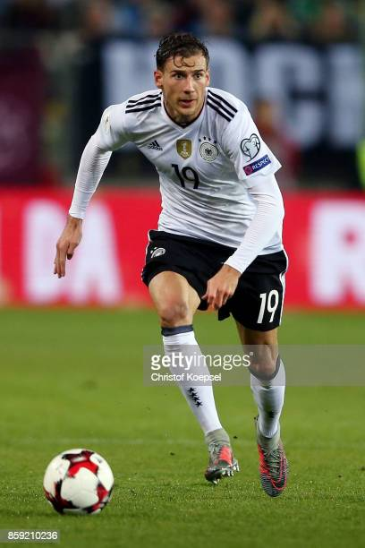 Leon Goretzka of Germany runs with the ball during the FIFA 2018 World Cup Qualifier between Germany and Azerbaijan at FritzWalterStadion on October...