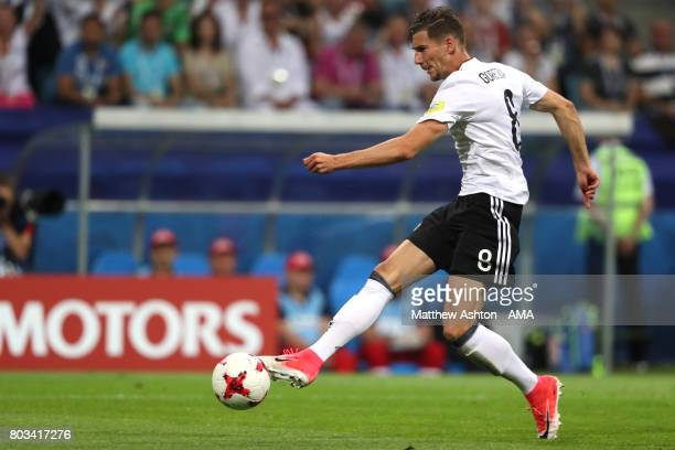 Leon Goretzka of Germany scores a goal to make the score 20 during the FIFA Confederations Cup Russia 2017 SemiFinal match between Germany and Mexico...