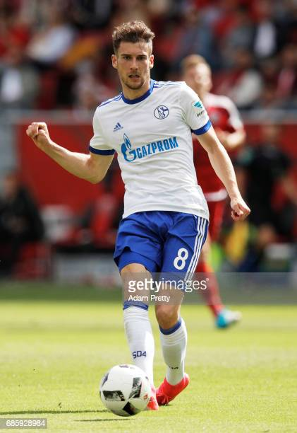 Leon Goretzka of Schalke 04 in action during the Bundesliga match between FC Ingolstadt 04 and FC Schalke 04 at Audi Sportpark on May 20 2017 in...
