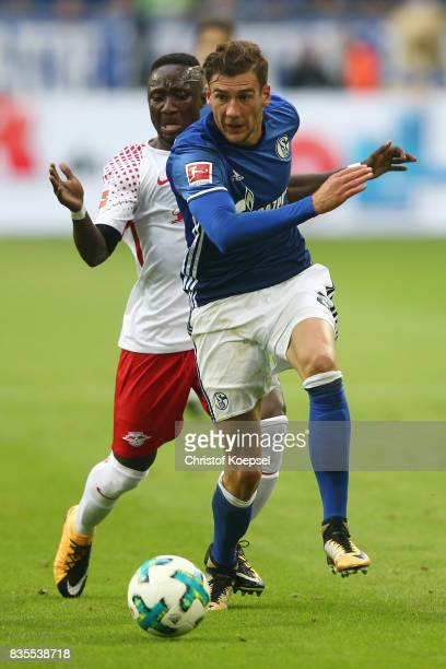 Leon Goretzka of Schalke and Naby Keita of Leipzig during the Bundesliga match between FC Schalke 04 and RB Leipzig at VeltinsArena on August 19 2017...