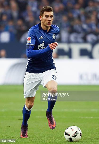 Leon Goretzka of Schalke controles the ball during the Bundesliga match between FC Schalke 04 and SV Darmstadt 98 at VeltinsArena on November 27 2016...