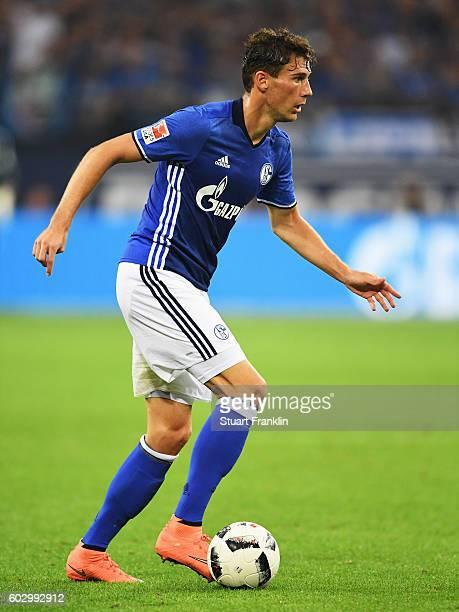 Leon Goretzka of Schalke in action during the Bundesliga match between FC Schalke 04 and Bayern Muenchen at VeltinsArena on September 9 2016 in...