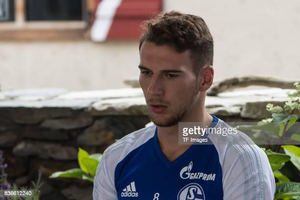 Leon Goretzka of Schalke looks on during the Training Camp of FC Schalke 04 on July 29 2017 in Mittersill Austria