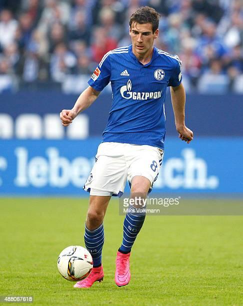 Leon Goretzka of Schalke runs with the ball during the Bundesliga match between FC Schalke 04 and 1 FSV Mainz 05 at VeltinsArena on September 13 2015...