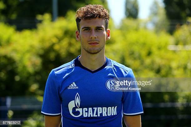 Leon Goretzka poses during the team presentation of FC Schalke at Veltins Arena on July 20 2016 in Gelsenkirchen Germany