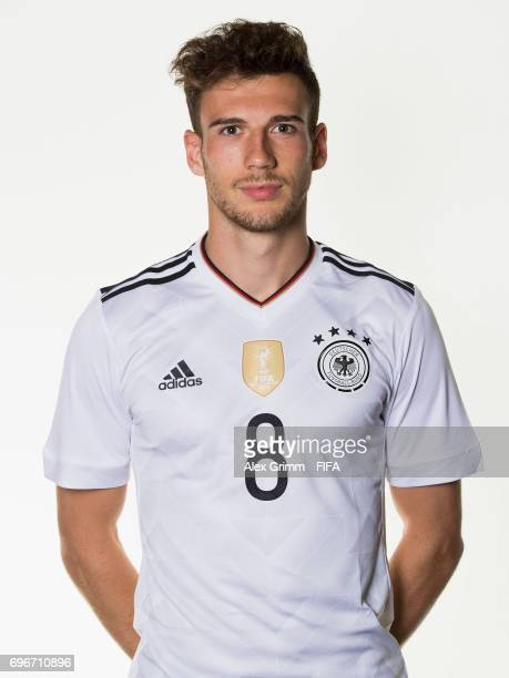 Leon Goretzka poses for a picture during the Germany team portrait session on June 16 2017 in Sochi Russia