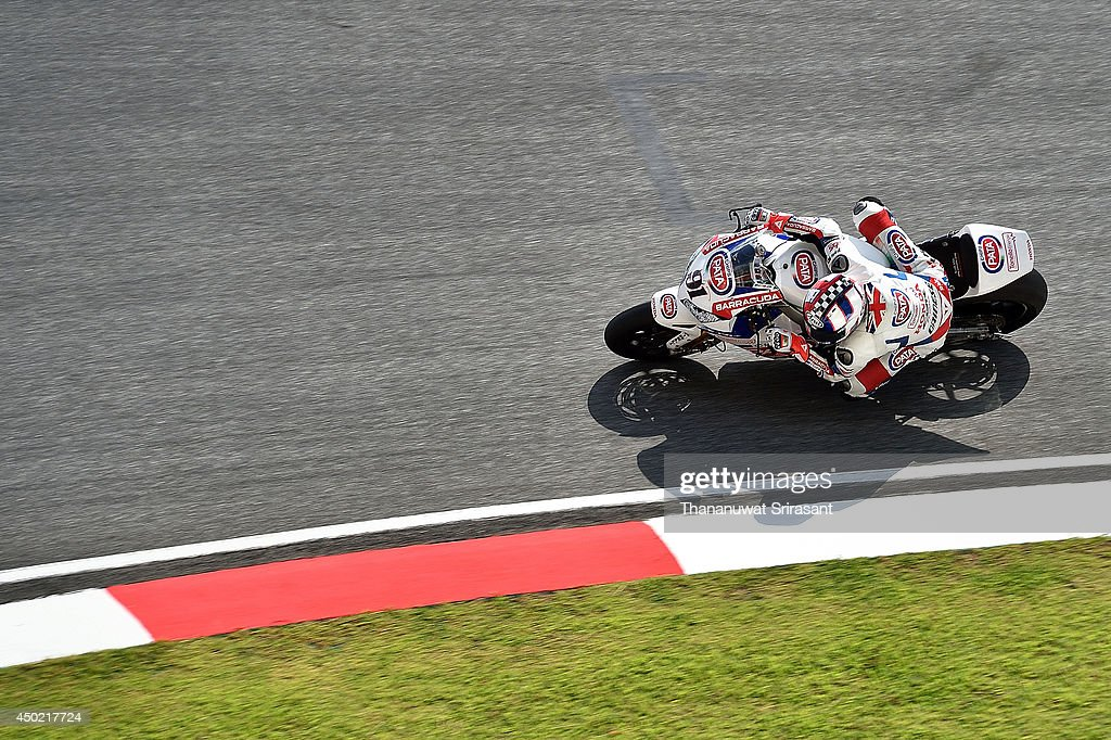 Leon Haslam of England No.91 and PATA HONDA WORLD SUPERBIKE TEAM with Honda CBR1000RR rides during the third practice of round six FIM Superbike World Championship at Sepang Circuit on June 7, 2014 in Kuala Lumpur, Malaysia.