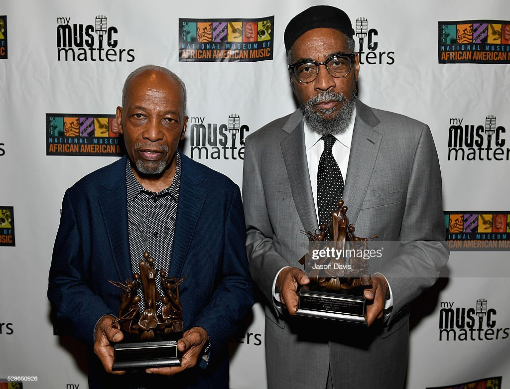 <a gi-track='captionPersonalityLinkClicked' href=/galleries/search?phrase=Leon+Huff&family=editorial&specificpeople=615842 ng-click='$event.stopPropagation()'>Leon Huff</a> and Kenneth Gamble of musical group Gamble and Huff receive awards during NMAAM's Celebration Of Legends Red Carpet And Luncheon on May 6, 2016 in Nashville, Tennessee.