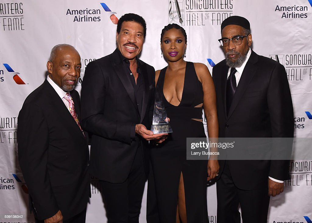 Leon Huff, Lionel Richie, Jennifer Hudson and Kenneth Gamble attend Songwriters Hall Of Fame 47th Annual Induction And Awards at Marriott Marquis Hotel on June 9, 2016 in New York City.