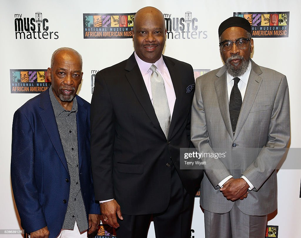 <a gi-track='captionPersonalityLinkClicked' href=/galleries/search?phrase=Leon+Huff&family=editorial&specificpeople=615842 ng-click='$event.stopPropagation()'>Leon Huff</a> of Gamble and Huff, H. Beecher Hicks III , President & CEO at National Museum of African American Music and Kenneth Gamble of Gamble and Huff attend NMAAM's Celebration Of Legends Red Carpet And Luncheon on May 6, 2016 in Nashville, Tennessee.