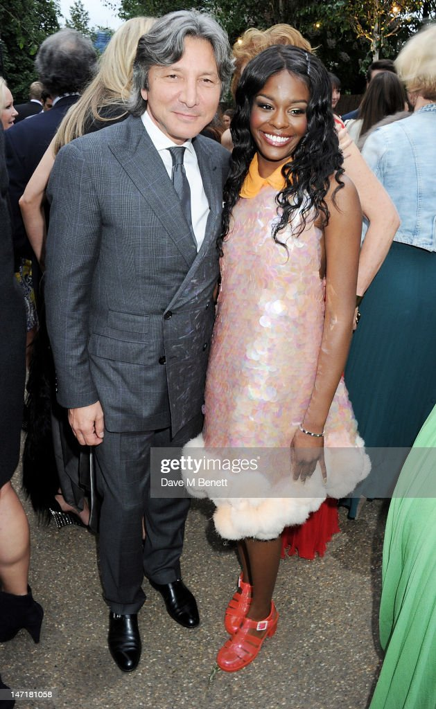 Leon Max (L) and Azealia Banks attend The Serpentine Gallery Summer Party sponsored by Leon Max at The Serpentine Gallery on June 26, 2012 in London, England.