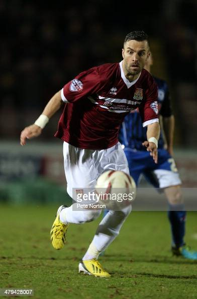 Leon McSweeney of Northampton Town in action during the Sky Bet league Two match between Northampton Town and Rochdale at Sixfields Stadium on March...