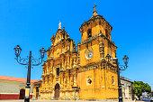 Leon, Nicaragua. Church of la Recolección famos for its Mexican baroque façade.