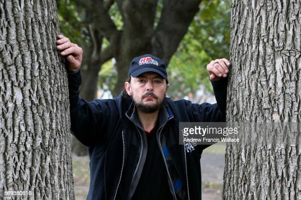 TORONTO ON NOVEMBER 1 Leon 'Pops' Alward poses at Moss Park after a news conference asking for the federal government to allow a indoor safe...