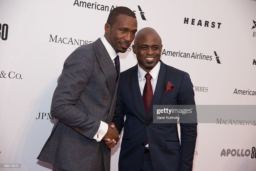 Leon Robinson and <a gi-track='captionPersonalityLinkClicked' href=/galleries/search?phrase=Wayne+Brady+-+Actor&family=editorial&specificpeople=217495 ng-click='$event.stopPropagation()'>Wayne Brady</a> attends the Apollo Spring Gala and 80th Anniversary Celebration at The Apollo Theater on June 10, 2014 in New York City.