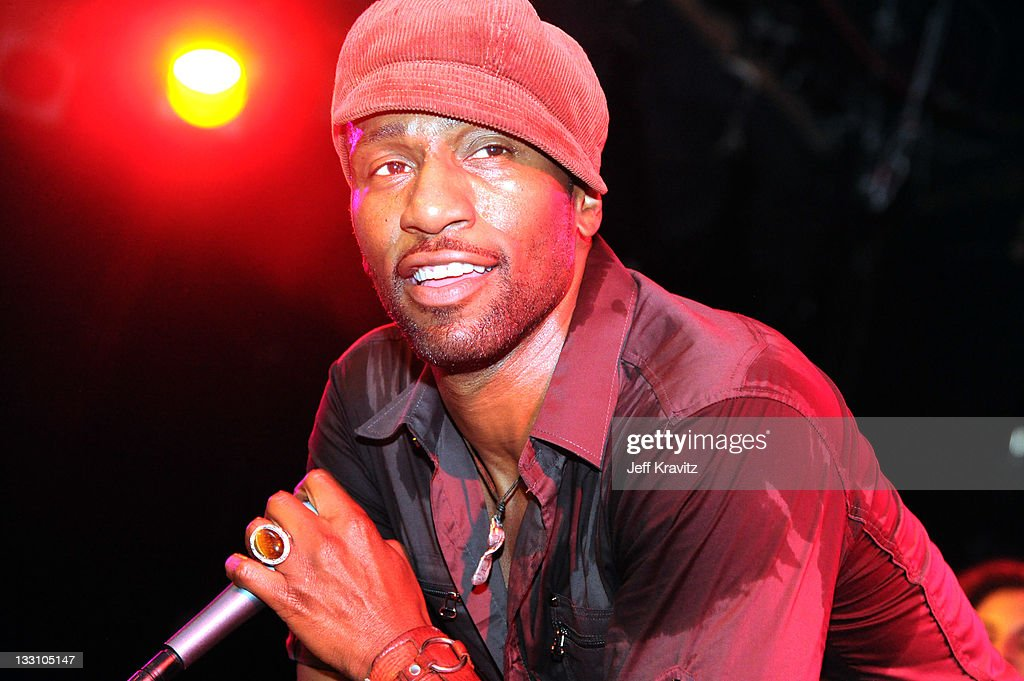Leon Robinson of Leon and the Peoples perform at The Roxy Theatre on November 16 2011 in West Hollywood California