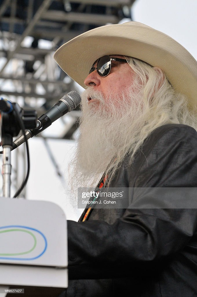 Leon Russell performs during the Abbey Road on the River Music Festival at The Belvedere on May 25, 2013 in Louisville, Kentucky.