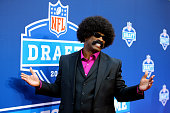 Leon Sandcastle of Primetime University arrives on the red carpet prior to the first round of the 2013 NFL Draft at Radio City Music Hall on April 25...