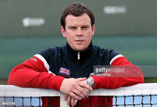 Leon Smith poses after being elected Davis Cup captain at The LTA National Tennis Centre Roehampton on April 12 2010 in London England