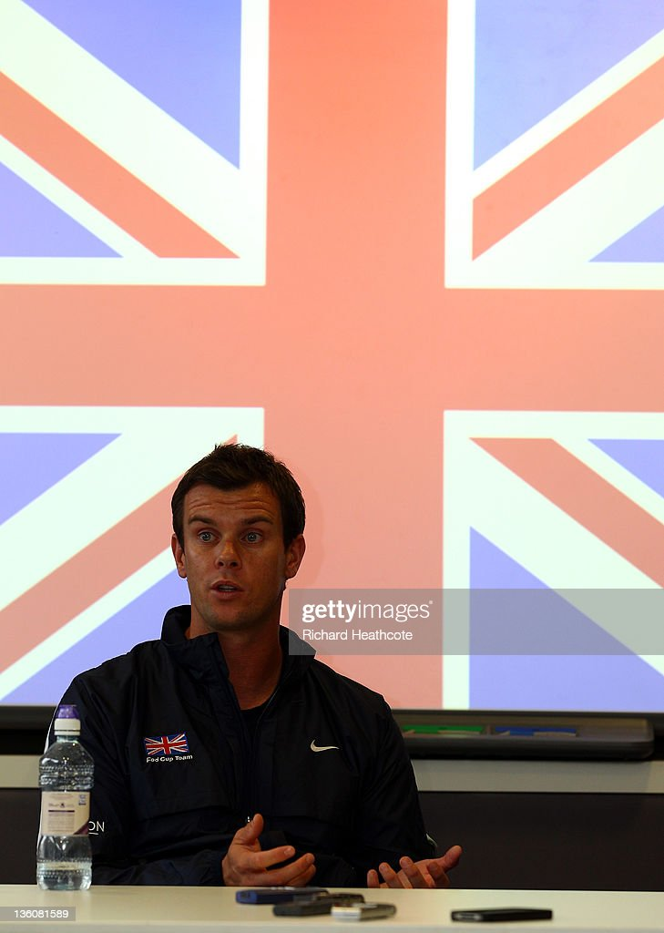Leon Smith speaks to the media as Judy Murray is announced as the Fed Cup Captain during a LTA Press Conference with Judy Murray and Leon Smith at the LTA Tennis Centre in Roehampton on December 19, 2011 in London, England.