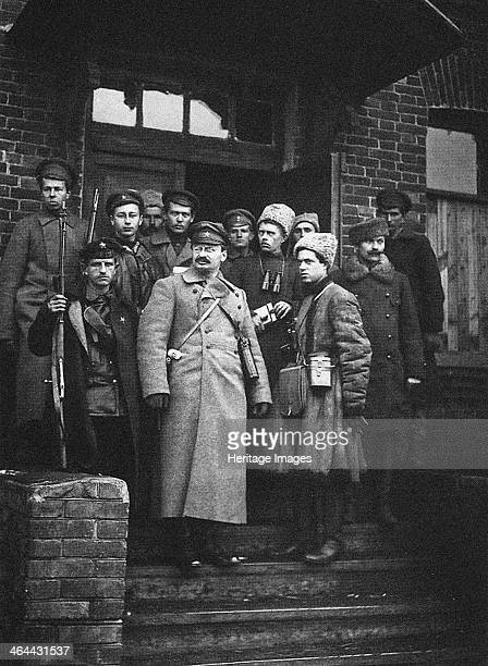 Leon Trotsky with his bodyguards