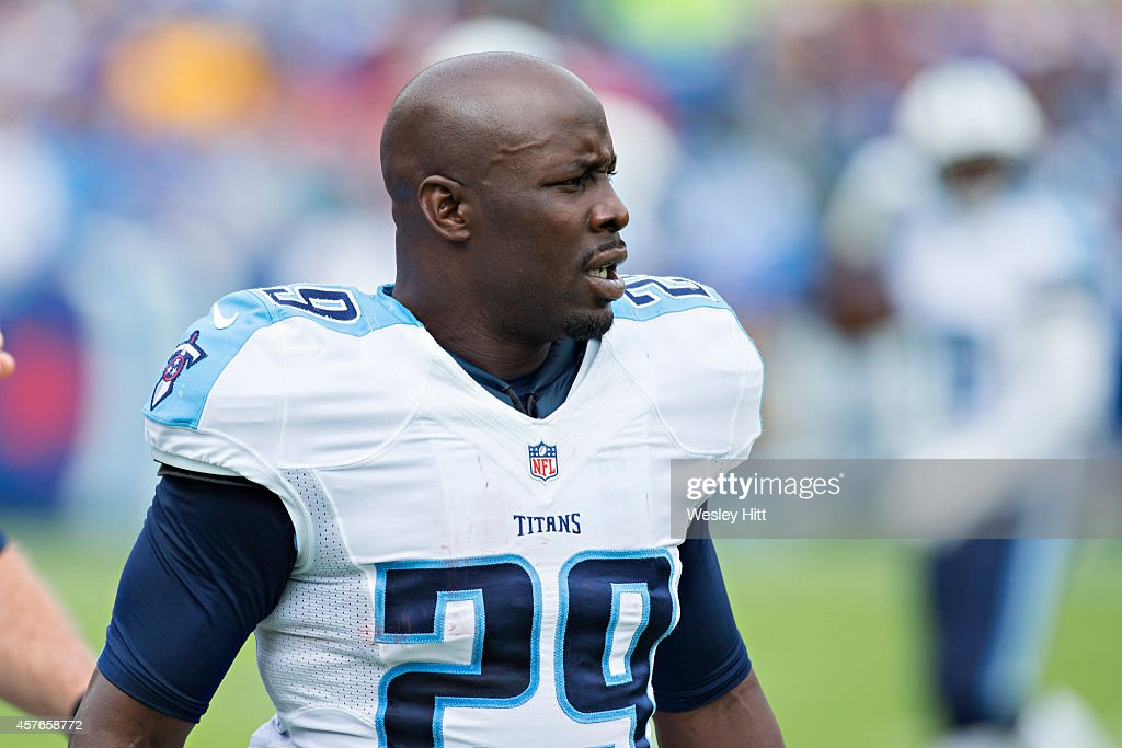 Leon Washington of the Tennessee Titans on the sidelines during a game against the Jacksonville Jaguars at LP Field on October 12 2014 in Nashville...