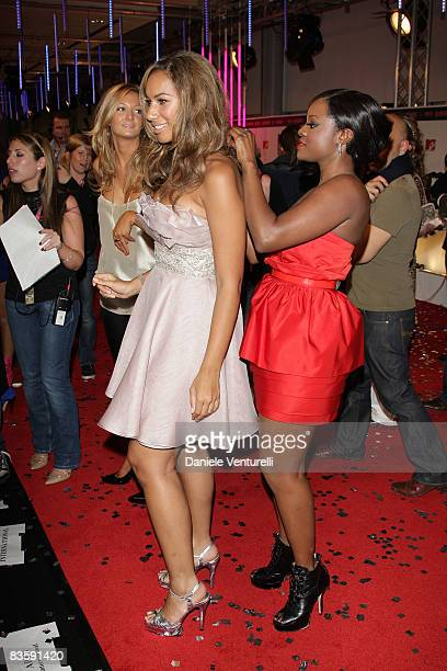 Leona Lewis and Keisha Buchanan attend the 2008 MTV Europe Music Awards held at at the Echo Arena on November 6 2008 in Liverpool England