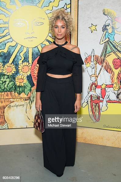 Leona Lewis attends the Alice Olivia by Stacey Bendet presentation during September 2016 New York Fashion Week The Shows at The Gallery Skylight at...