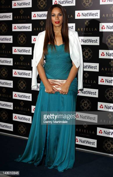 Leona Lewis attends the Ariella Couture Fashion Show at International HQ of Natwest and RBS on April 17 2012 in London England