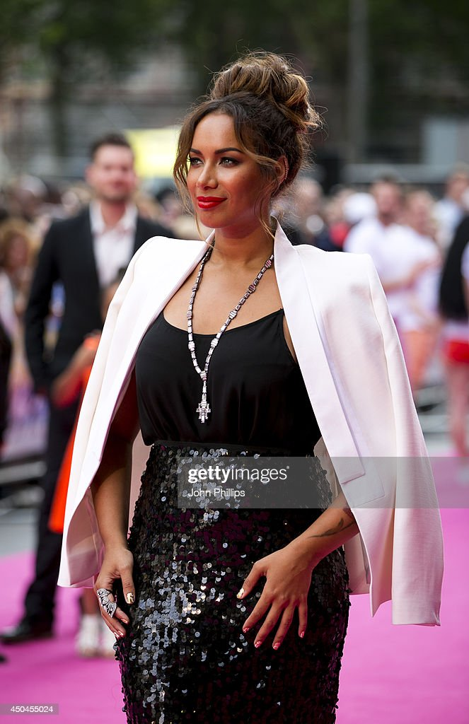 <a gi-track='captionPersonalityLinkClicked' href=/galleries/search?phrase=Leona+Lewis&family=editorial&specificpeople=4043973 ng-click='$event.stopPropagation()'>Leona Lewis</a> attends the UK Premiere of 'Walking On Sunshine' at Vue West End on June 11, 2014 in London, England.
