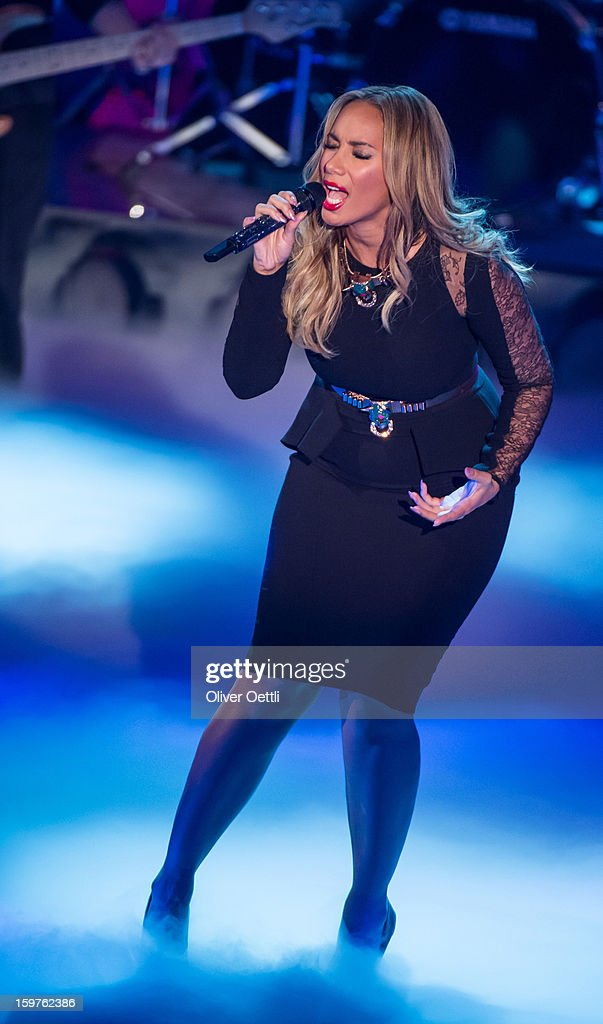 Leona Lewis attends the 'Wetten dass..?' show on January 19, 2013 in Offenburg, Germany.