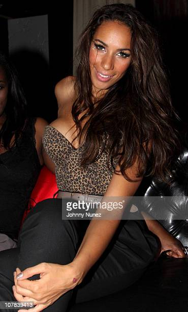 Leona Lewis attends Usher's OMG after party at Dream nightclub on December 31 2010 in Miami Beach Florida