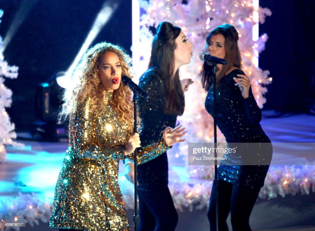 <a gi-track='captionPersonalityLinkClicked' href=/galleries/search?phrase=Leona+Lewis&family=editorial&specificpeople=4043973 ng-click='$event.stopPropagation()'>Leona Lewis</a> performs at the 81st annual Rockefeller Center Christmas Tree Lighting Ceremony on December 4, 2013 in New York City.