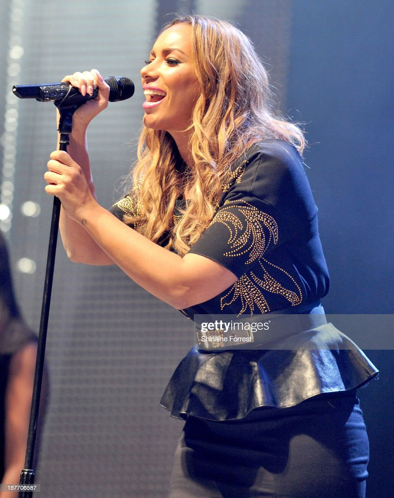 Leona Lewis performs at the Key 103 Jingle Ball at Manchester Arena on December 5, 2012 in Manchester, England.