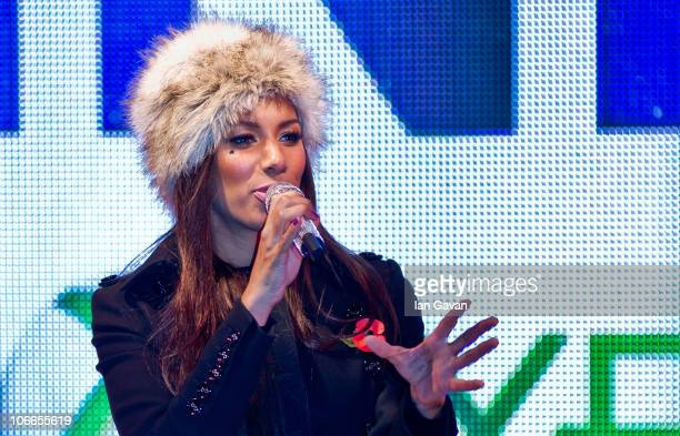Leona Lewis performs at the launch of Kinect for Xbox 360 at the Natural History Museum on November 9 2010 in London England