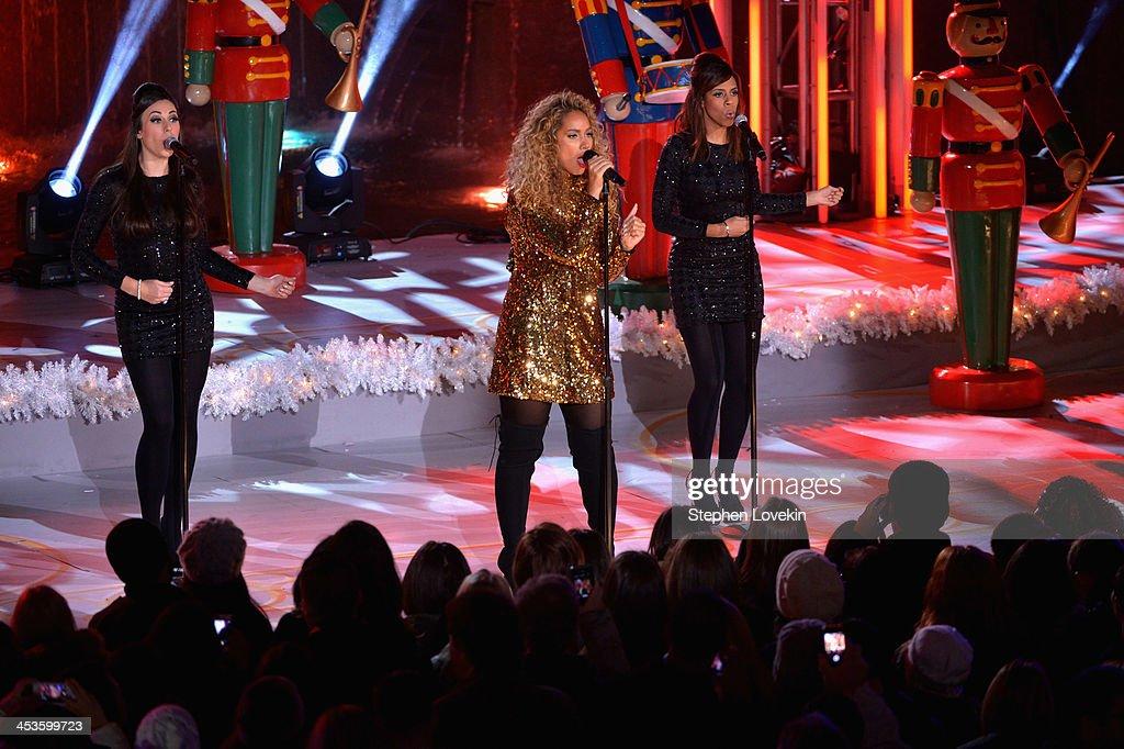 Leona Lewis performs during 81st Annual Rockefeller Center Christmas Tree Lighting Ceremony at Rockefeller Center on December 4, 2013 in New York City.