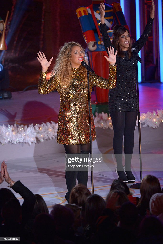 Leona Lewis performs during 81st Annual Rockefeller Center Christmas Tree Lighting Ceremony at Rockefeller Center on December 4, 2013 in New York City.