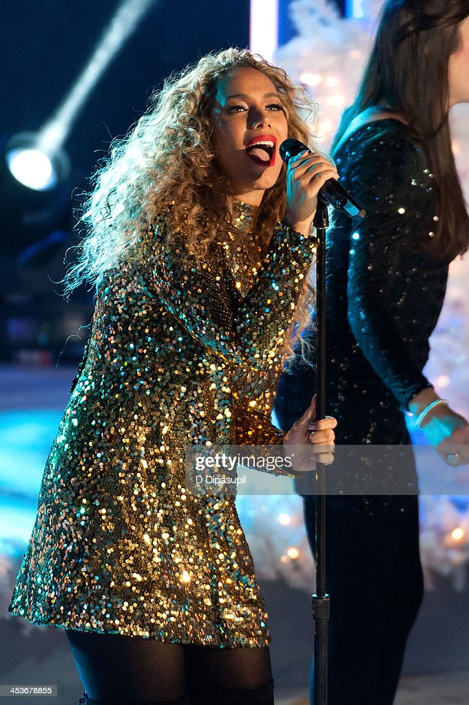 <a gi-track='captionPersonalityLinkClicked' href=/galleries/search?phrase=Leona+Lewis&family=editorial&specificpeople=4043973 ng-click='$event.stopPropagation()'>Leona Lewis</a> performs during the 81st annual Rockefeller Center Christmas Tree Lighting Ceremony on December 4, 2013 in New York City.