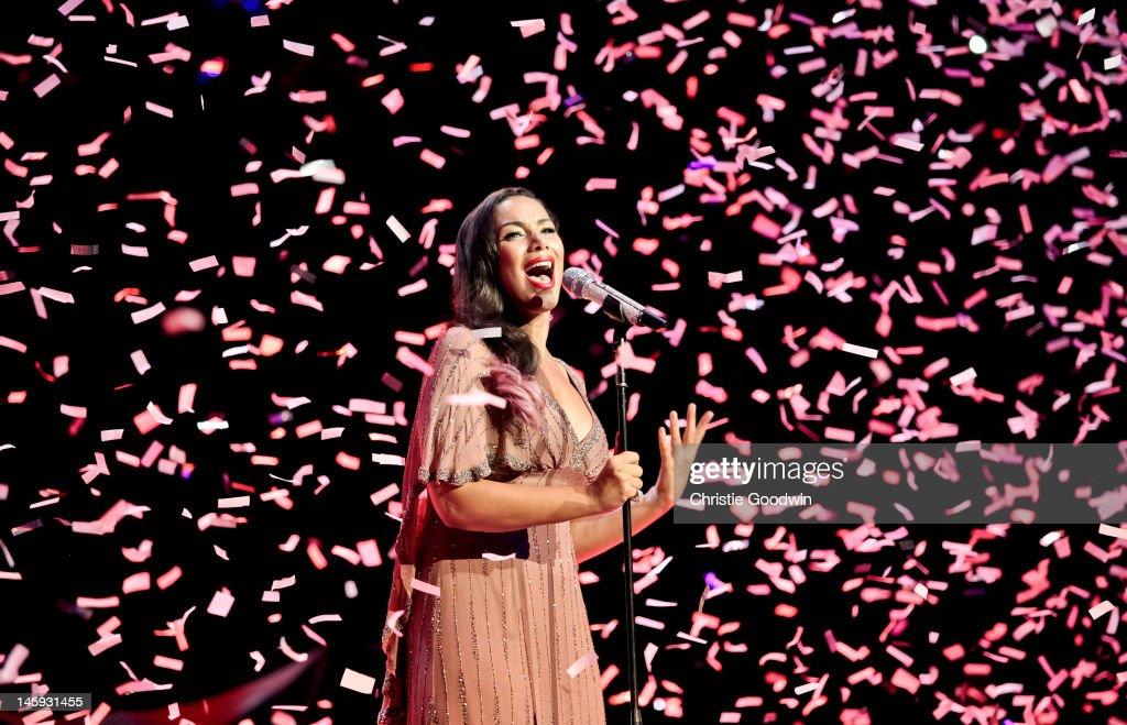 <a gi-track='captionPersonalityLinkClicked' href=/galleries/search?phrase=Leona+Lewis&family=editorial&specificpeople=4043973 ng-click='$event.stopPropagation()'>Leona Lewis</a> performs on stage as part of the Rays Of Sunshine charity concert at Royal Albert Hall on June 7, 2012 in London, United Kingdom.