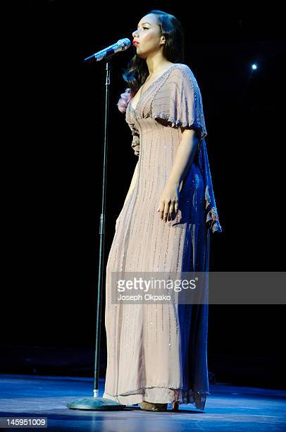 Leona Lewis performs on stage at the Rays of Sunshine Concert at Royal Albert Hall on June 7 2012 in London England