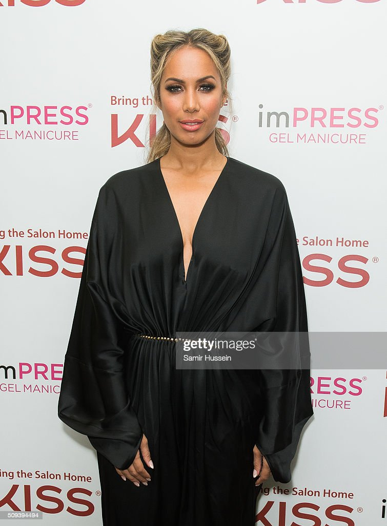 <a gi-track='captionPersonalityLinkClicked' href=/galleries/search?phrase=Leona+Lewis&family=editorial&specificpeople=4043973 ng-click='$event.stopPropagation()'>Leona Lewis</a> poses as she hosts KISS Beauty Launch on February 10, 2016 in London, United Kingdom.