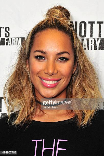 Leona Lewis visits Knott's Scary Farm at Knott's Berry Farm on October 29 2015 in Buena Park California
