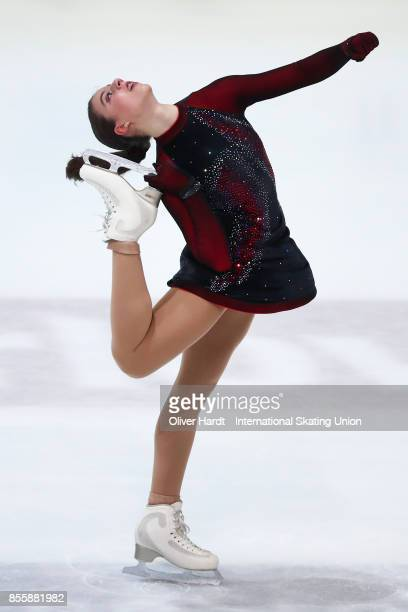 Leona Rogic of Serbia performs in the Junior Ladies Free Skating Program during day four of the ISU Junior Grand Prix of Figure Skating at Dom...