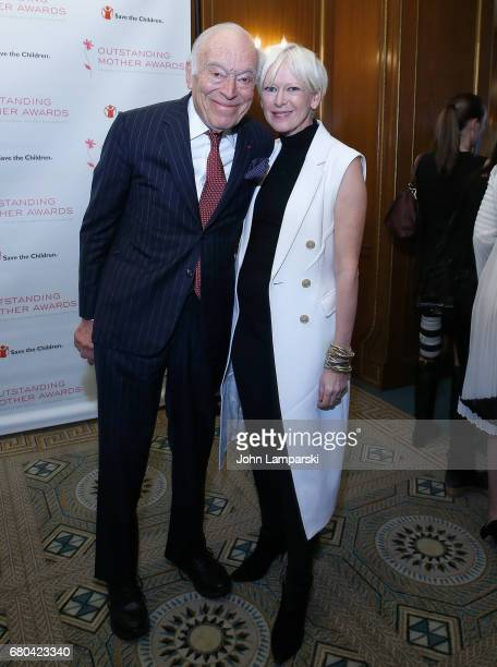 Leonard A Lauder and Joanna Coles attend 2017 Outstanding Mother Awards at The Pierre Hotel on May 8 2017 in New York City