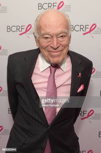 Leonard A Lauder arrives at the Breast Cancer Research Foundation New York Symposium and Awards Luncheon at New York Hilton on October 19 2017 in New...