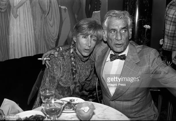 Leonard Bernstein and Renata Adler circa 1974 in New York City