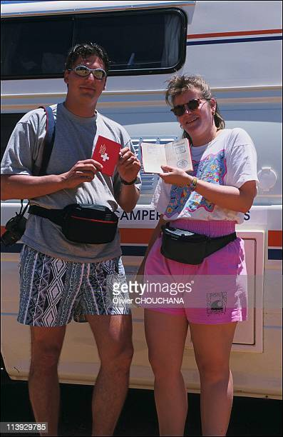 Leonard Castley Prince of Oz In Australia On June 1998Two visitors with Hutt River visas